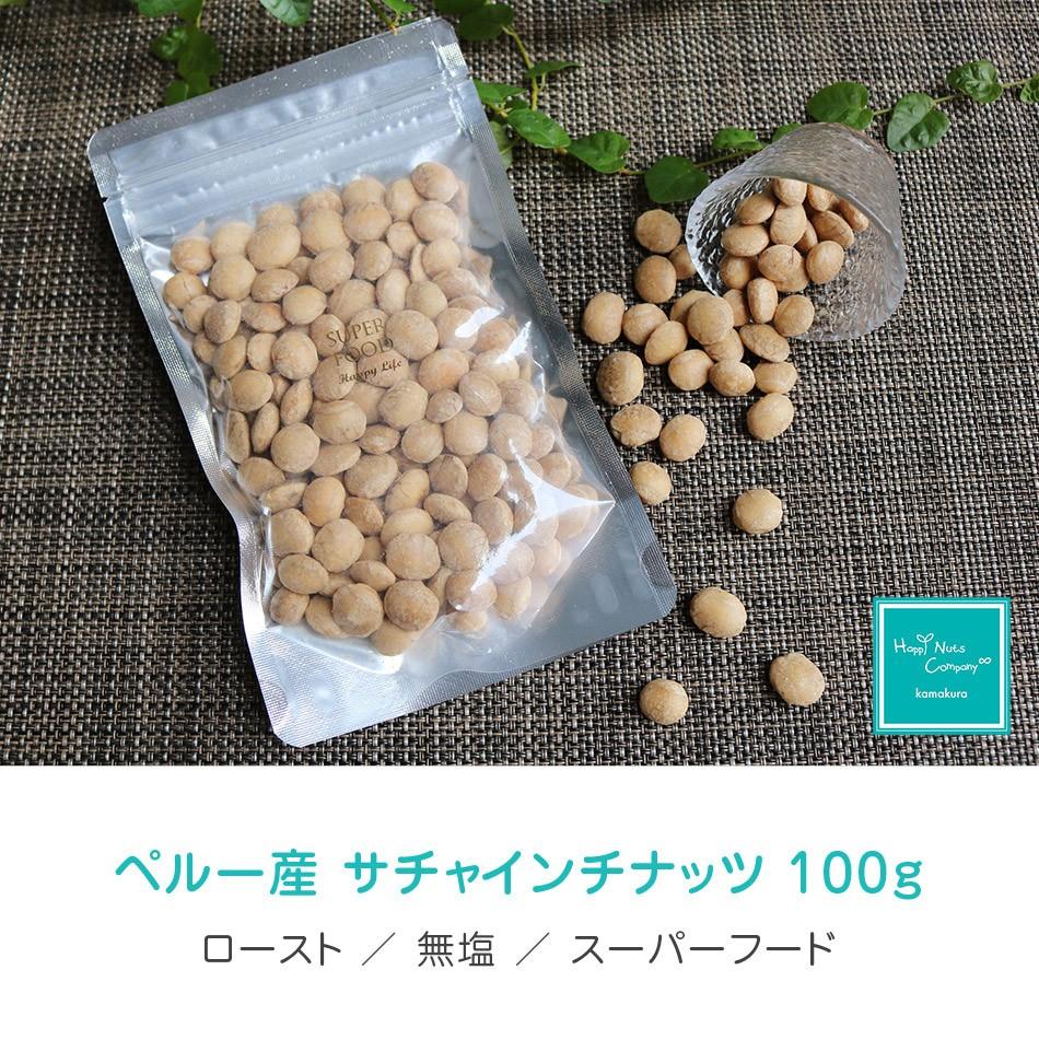 サチャインチナッツ ペルー 産 素焼き 無塩  無添加 100g オメガ3 ダイエットサポート ハッピーナッツカンパニー