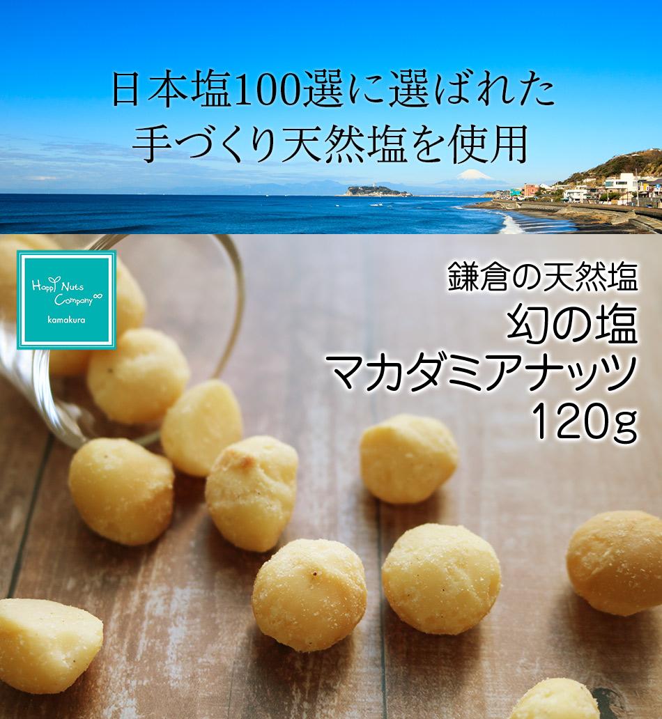 マカダミアナッツ 鎌倉 天然塩 幻の塩 マカダミア ナッツ 120g ハッピーナッツカンパニー